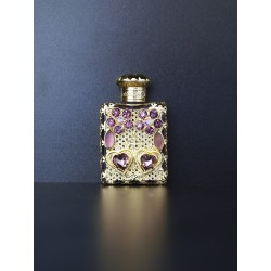 Perfume bottle- purple, gold