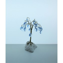 Tree with trimmings- blue