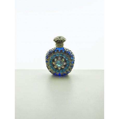 Perfume bottle- fialová, zlatá