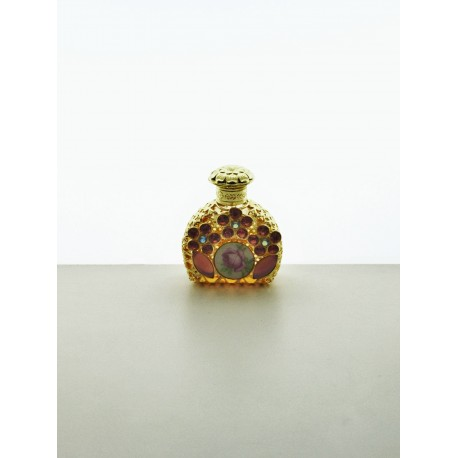 Perfume bottle- pink, gold