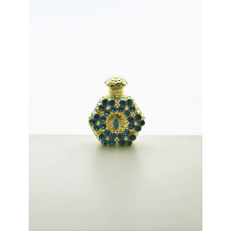 Perfume bottle- cyan, silver