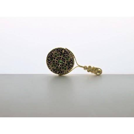 Pocket mirror- green, gold