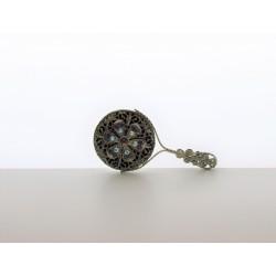 Pocket mirror- purple, silver