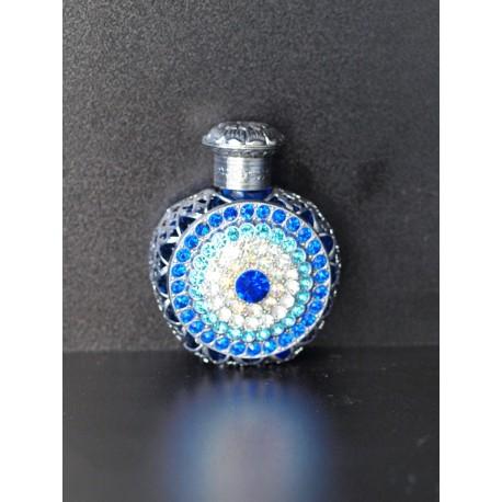 Perfume bottle- blue, silver