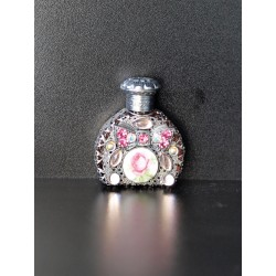 Perfume bottle- silver, pink