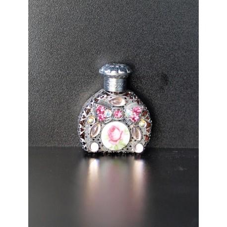 Perfume bottle- silver, pink