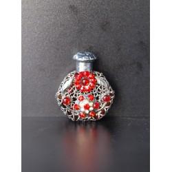 Flakon- červená, stříbrná