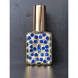 Perfume bottle sprey- blue, gold