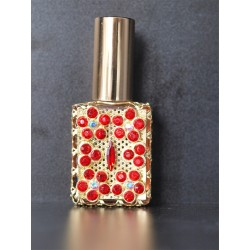 Perfume bottle sprey- red, gold