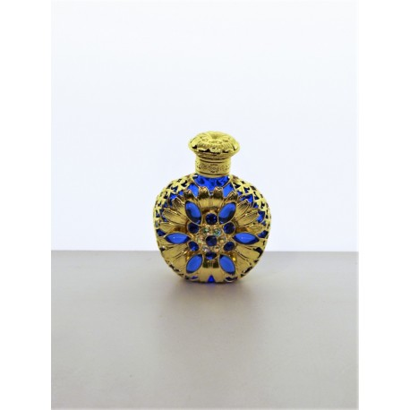 Perfume bottle- blue, silver