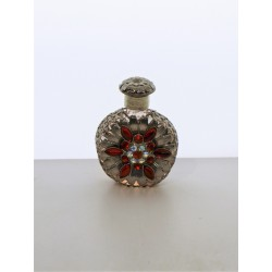Perfume bottle- pink, silver