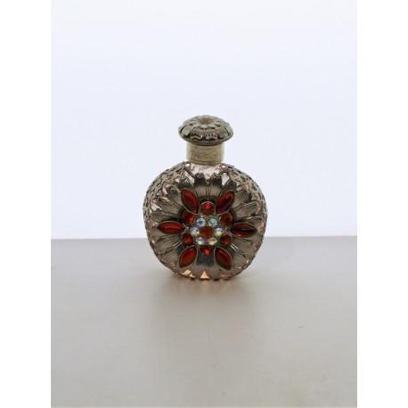 Perfume bottle- zelená, silver