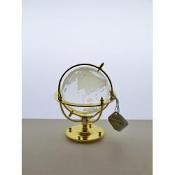Glóbus námořní 7 cm zlacený- čirý