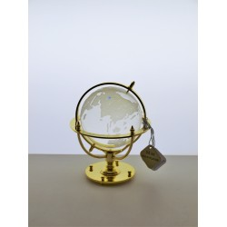 Marine globe 7 cm golden- transparent