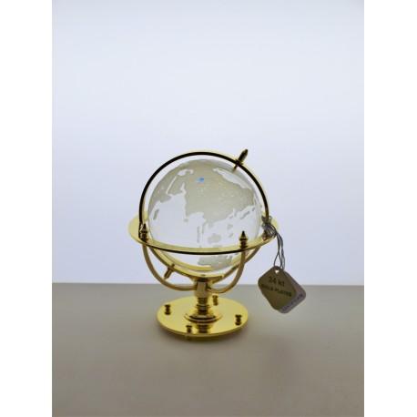 Marine globe 7 cm golden- transparent