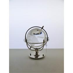 Marine globe 7 cm silver plated- transparent