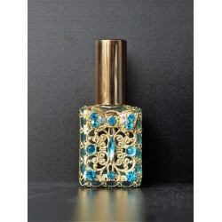 Perfume bottle sprey- blue, gold
