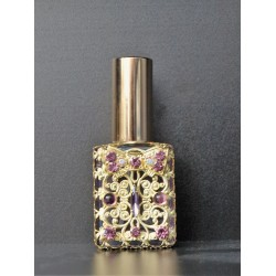Perfume bottle sprey- purple, gold
