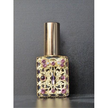 Perfume bottle sprey- purple, gold