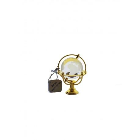 Marine globe 4 cm golden- transparent