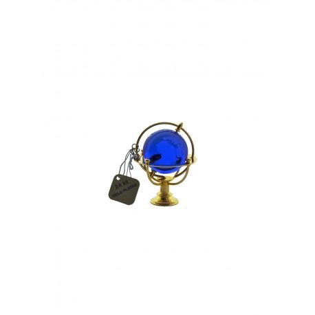 Marine globe 4 cm golden- blue