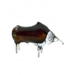 Skleněná figurka- býk malý
