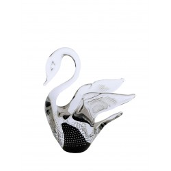 Glass figurine- swan small