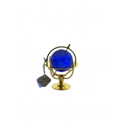 Glóbus námořní 5 cm zlacený- modrá