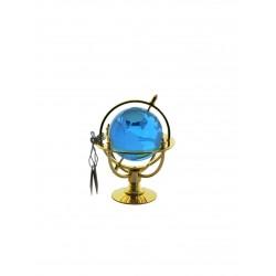 Glóbus námořní 5 cm zlacený- aqua
