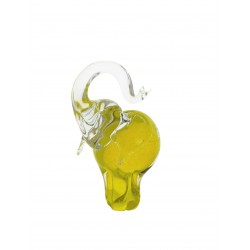 Glass figurine- elephant small