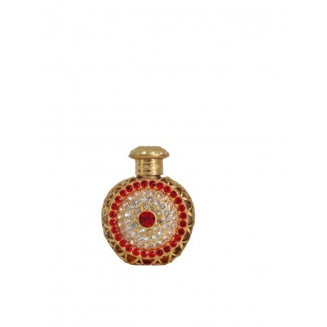 Perfume bottle- red, gold
