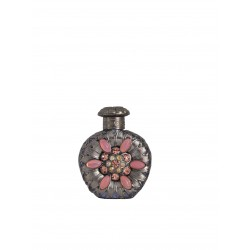Perfume bottle- purple, silver