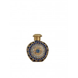 Perfume bottle- blue, gold