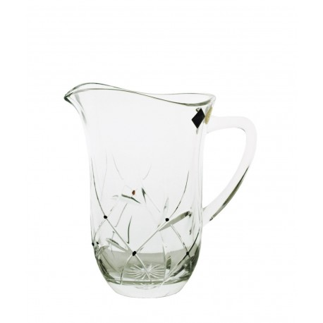 Pitcher with garnets