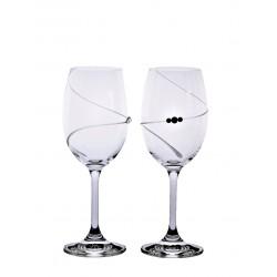 Víno bílé spirála- Swarovski crystals