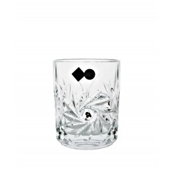 Glasses 2 pcs whisky with garnets