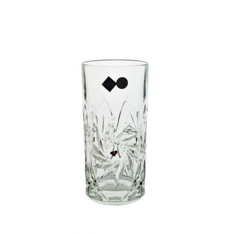 Glasses 2 pcs long drink with garnets