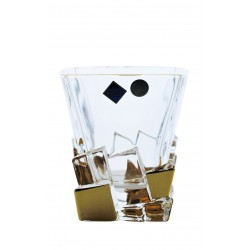 Whisky glasses Crack- golden 2 pcs or 6 pcs