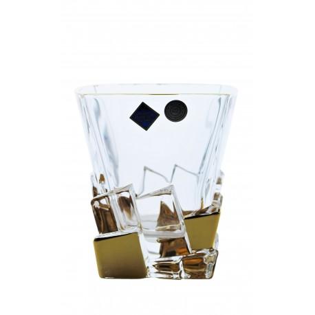 Whisky glasses Crack- golden
