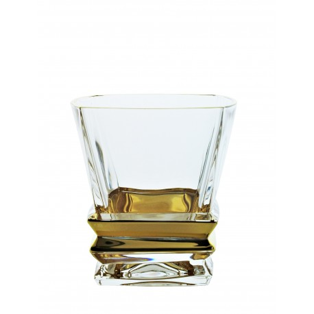 Whisky glasses Rocky- golden