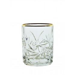 Sklenice Větrník whisky- zlaté