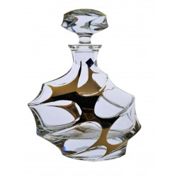 Glass decanter Calypso- golden