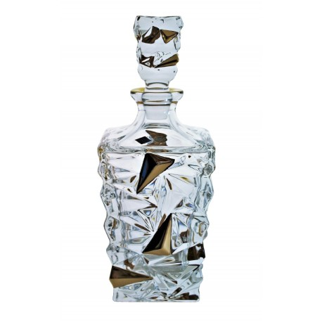 Glass decanter Glacier- golden
