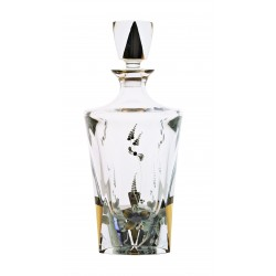 Glass decanter Triangle- golden