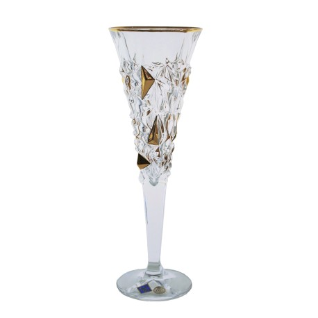 Glasses for champagne Glacier- golden