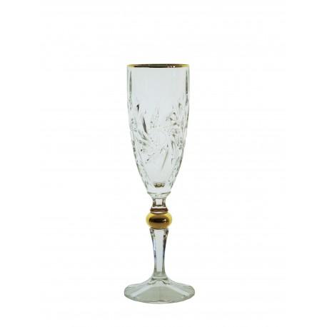 Glasses for champagne Pinwheel- golden