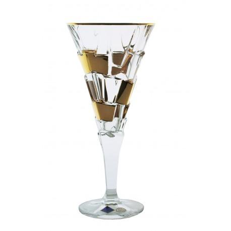 Sklenice na víno Crack- zlaté