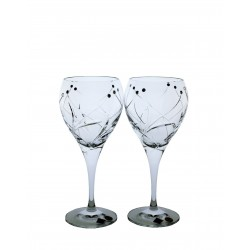 White wine 2 pcs Fiona cut- Swarovski crystals