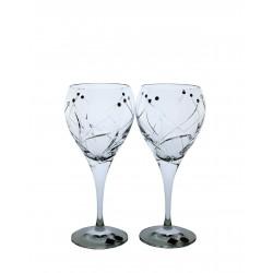 Víno bílé 2 ks Fiona brus- Swarovski crystals