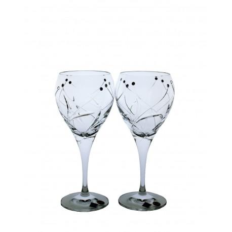 White wine Fiona cut- Swarovski crystals